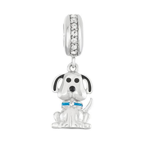 HSUS Sterling Silver Crystal Dog Charm