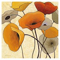 Art.com Pumpkin Poppies III Wall Art Print