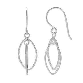 PRIMROSE Sterling Silver Double Marquise Drop Earrings
