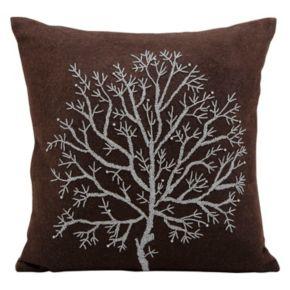 Mina Victory Tree of Life Beaded Throw Pillow