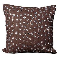 Mina Victory Rain Drops Beaded Throw Pillow