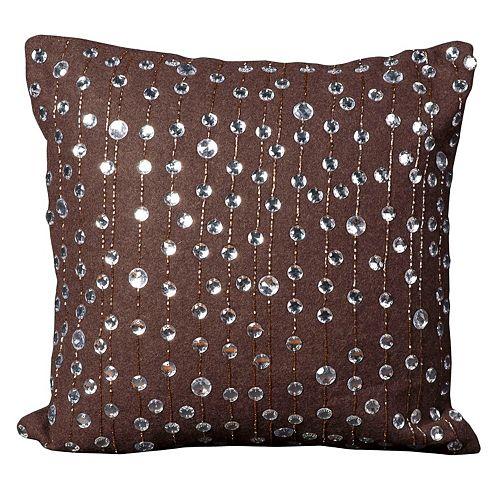Mina Victory Rain Drops Beaded Throw Pillow