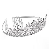 Simulated Crystal Lattice Tiara Headband