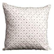 Mina Victory Bridal Geometric Beaded Throw Pillow