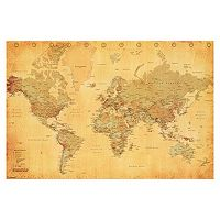 Art.com Vintage Style World Map Wall Art Print