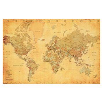Art.com Vintage Style World Map Wall Art Print