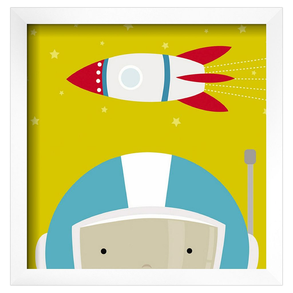Art.com Peek-A-Boo Heroes Astronaut Framed Wall Art