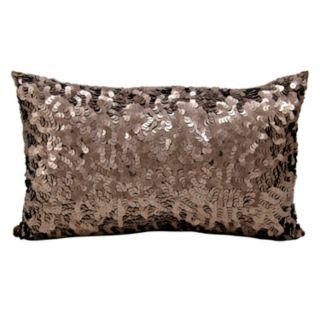 Michael Amini Circle Sequin Oblong Throw Pillow