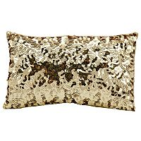 Michael Amini Circle Sequin Oblong Throw Pillow