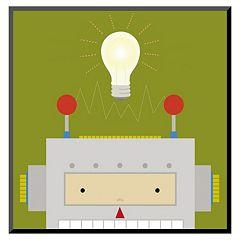 Art.com Peek-A-Boo Heroes Robot Wall Art Print