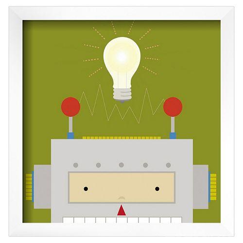 Art.com Peek-A-Boo Heroes Robot Framed Wall Art