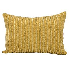 Michael Amini Beaded Stripes Throw Pillow