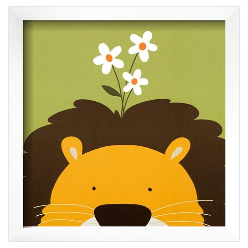 Art.com Peek-A-Boo IX Lion Framed Wall Art