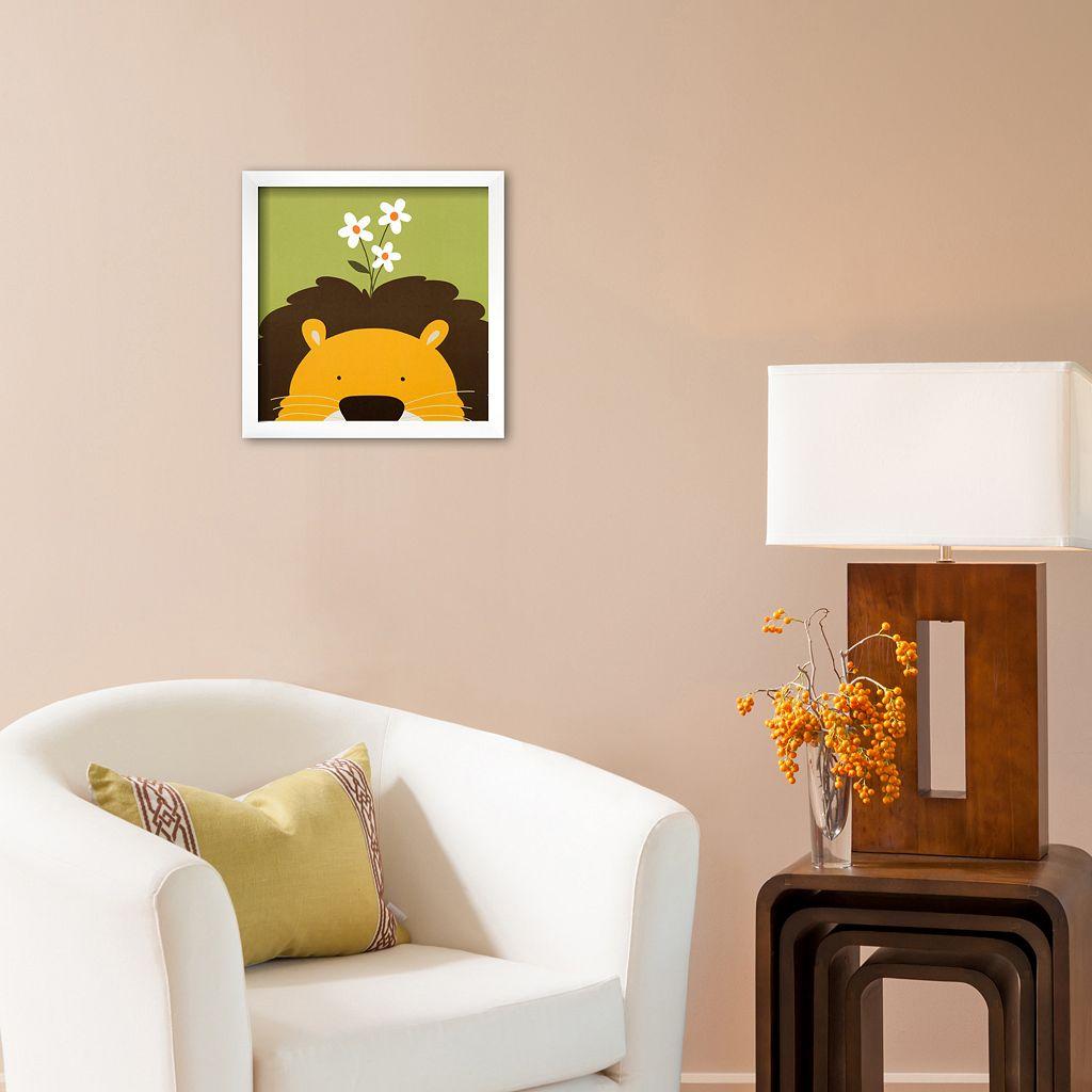 Art.com Peek-A-Boo IX Lion Framed Wall Art