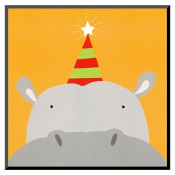 Art.com Peek-A-Boo VIII Hippo Wall Art Print