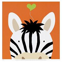 Art.com Peek-A-Boo XII Zebra White Wall Art Print