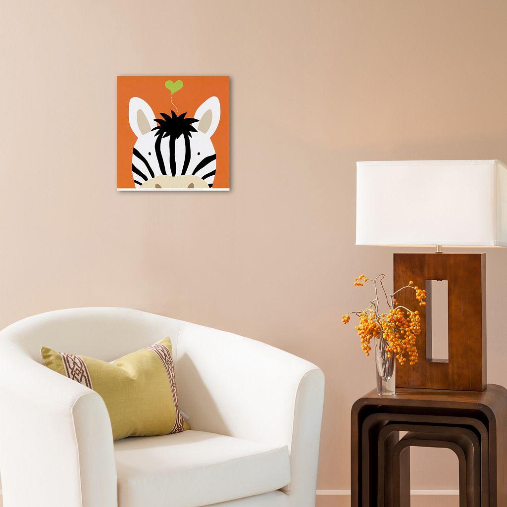 Art.com Peek-A-Boo XII Zebra White Wall Art Print