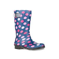 Kamik Dots Girls' Waterproof Rain Boots
