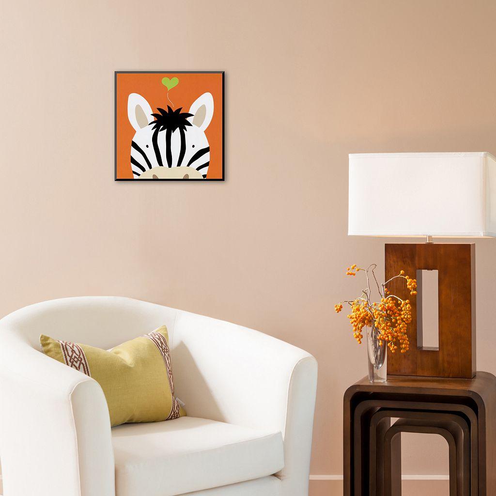 Art.com Peek-A-Boo XII Zebra Wall Art Print