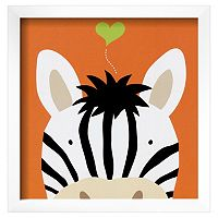 Art.com Peek-A-Boo XII Zebra Framed Wall Art