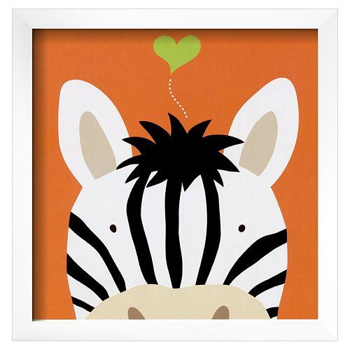 Art.com Peek-A-Boo XII Zebra Framed Wall Art