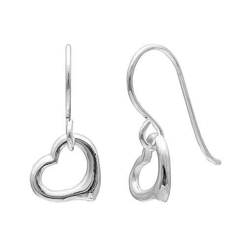 PRIMROSE Sterling Silver Heart Drop Earrings