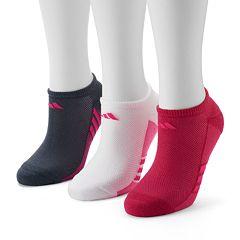 Women's adidas 3 pkStriped No-Show Socks
