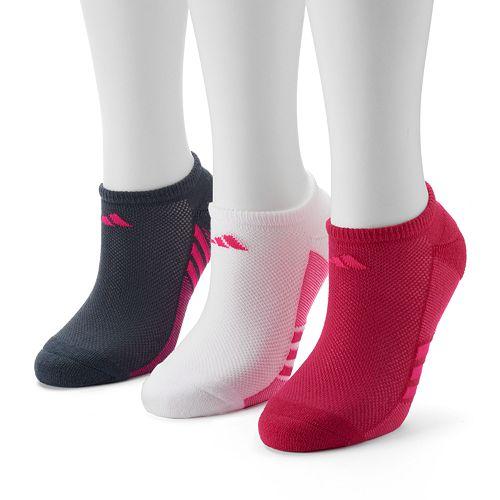 Women's adidas 3-pk. Striped No-Show Socks