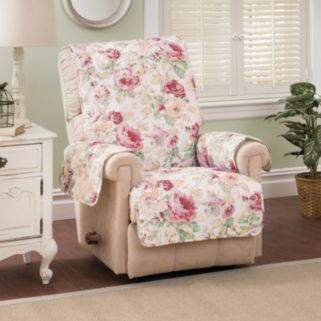Innovative Textile Solutions English Floral Recliner Wing Chair Protector