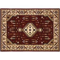 Couristan Anatolia Tribal Diamond Framed Floral Rug
