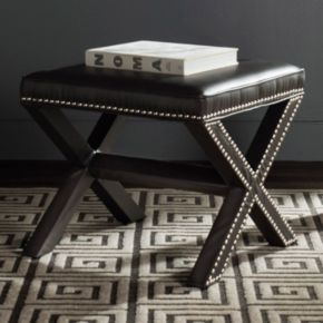 Safavieh Palmer Nailhead End Table & Ottoman