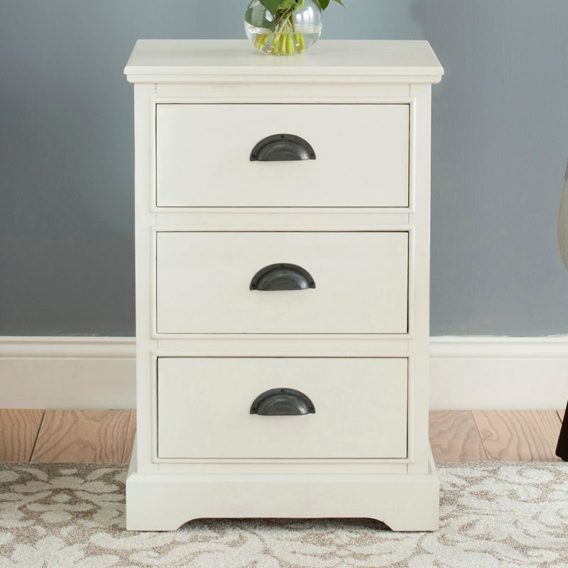 Safavieh Griffin 3-Drawer End Table, White