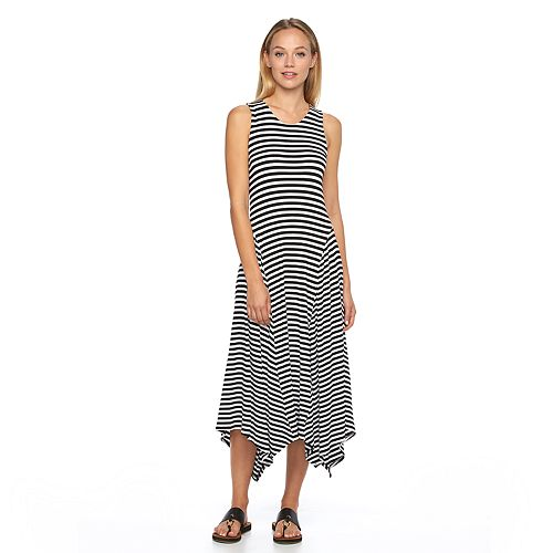 3ea85b55b5e Women s Apt. 9® Striped Shark-Bite Maxi Dress