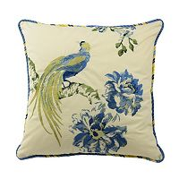 Waverly Floral Engagement Embroidered Throw Pillow