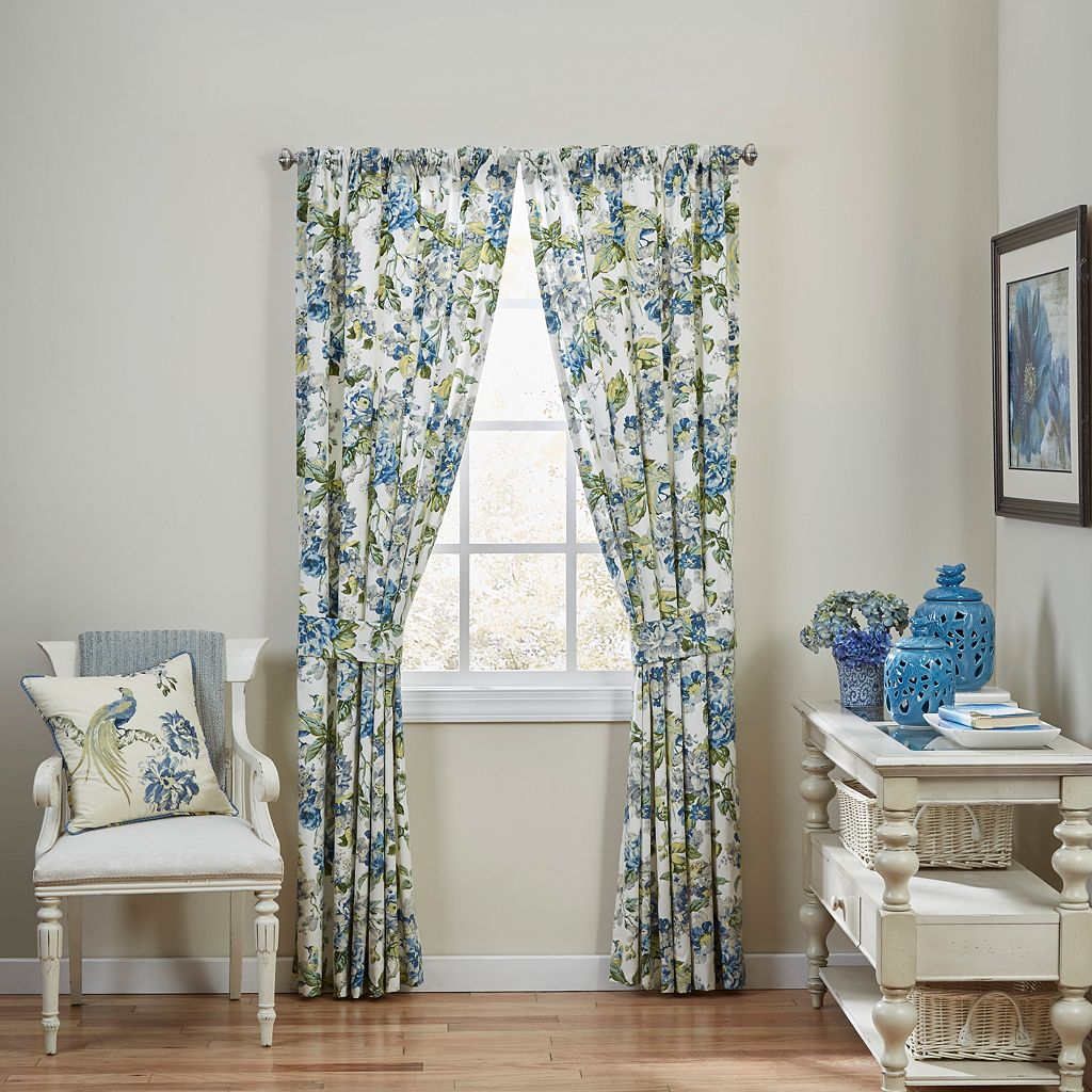 Waverly 2-pack Floral Engagement Curtains - 50'' x 84''