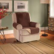 Innovative Textile Solutions Waterproof Reversible Fleece Recliner Wing Chair Protector