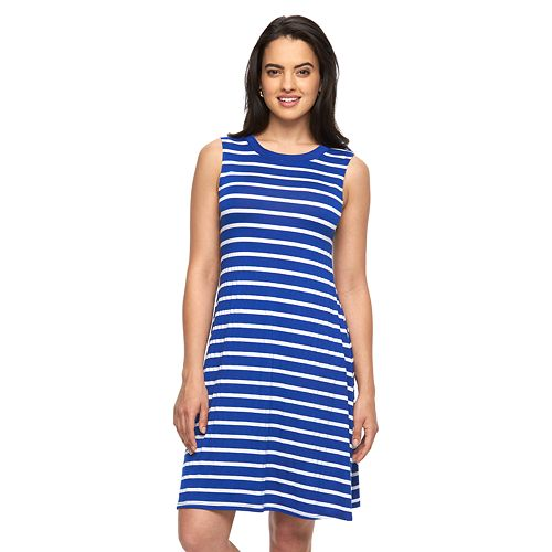 Women's AB Studio Striped Tank Dress