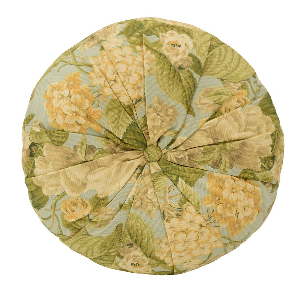 Waverly Garden Glory Round Throw Pillow