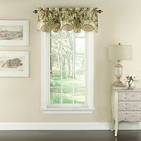 Waverly Garden Glory Scalloped Floral Window Valance - 60'' x 16''