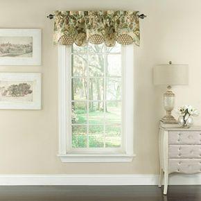 Waverly Garden Glory Scalloped Floral Window Valance - 60'' x 16''