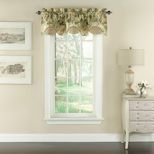 Waverly Garden Glory Scalloped Floral Window Valance 60