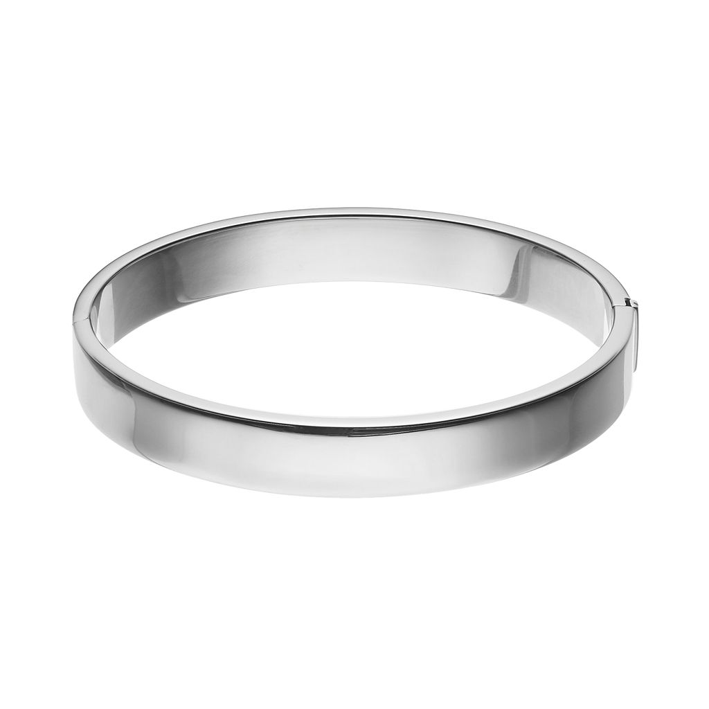 Sterling Silver Polished Wide Bangle Bracelet