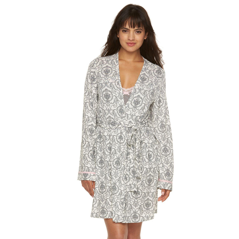 Womens Apt. 9? Scroll Print Wrap Robe
