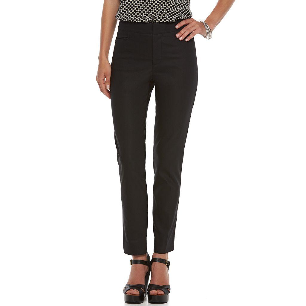 Petite Chaps Solid Straight-Leg Pants