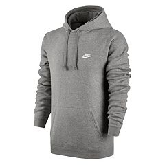 2f61601c160a Men s Nike Club Fleece Pullover Hoodie. Charcoal Heather White White Black  ...