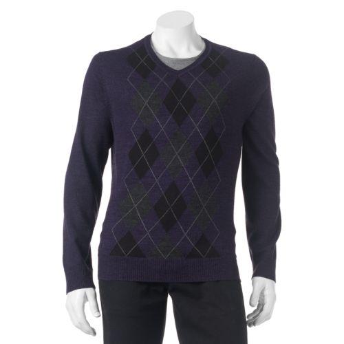 Men's Apt. 9® Classic-Fit Argyle Merino Sweater