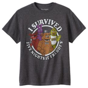"""Boys 8-20 Five Nights At Freddy's """"I Survived"""" Tee"""
