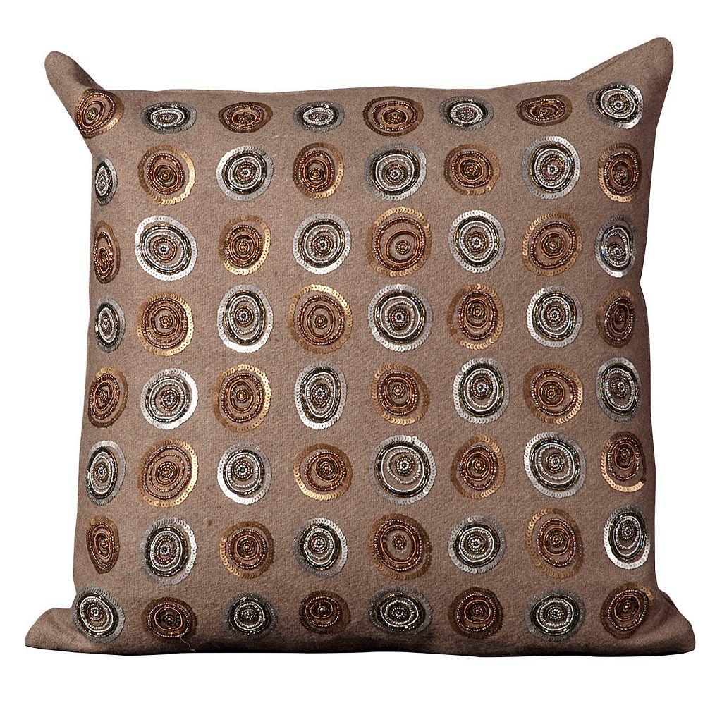 Mina Victory Circles Sequin Throw Pillow