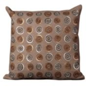 Mina Victory Circles Sequin Throw Pillow