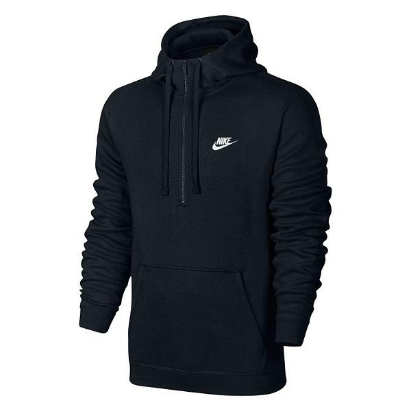 Men's Nike Club Half-Zip Fleece Hoodie